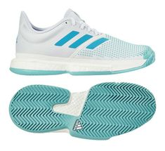 pretty nice d642c edcbf adidas SoleCourt Boost PARLEY Women s Tennis Shoes White Racket Racquet  G26301  adidas