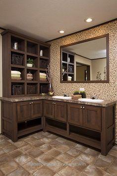 vanity arrangement for guest bathroom