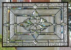 Nem todo vitral precisa ter cor, textura já dá o efeito!