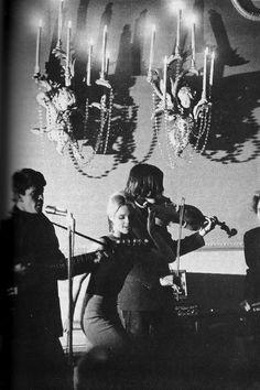 Edie Sedgewick. On stage. With Velvet Underground. In 1966.