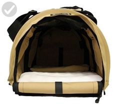 """SturdiBag Divided Large Pet Carrier, Large Divided Pet Carrier 2 in 1 Pet Carrier Tote, Airline,AAA Approved, Size Large 18""""L X 12""""W X 12""""H (Earthy Tan) - For our pretty pets (*Amazon Partner-Link)"""