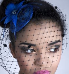 Rome Fascinator Feather flower headpiece and by tiedandfeathered Blue Wedding, Trendy Wedding, Wedding Styles, Wedding Ideas, Wedding Stuff, Fall Wedding, Black Birdcage Veils, Fascinator Hats, Fascinators