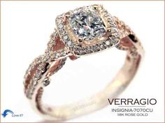 Rose Gold engagement ring! Would love this minus diamonds in the band