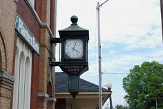 Old Clock downtown Indianola