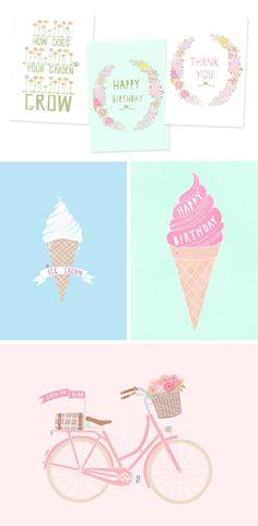 spring illustrations