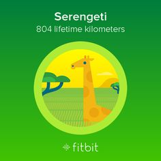 I covered 804 kilometers with my #Fitbit and earned the Serengeti badge.