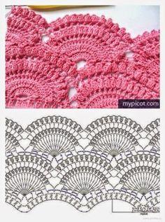 Patrones de bellísima falda crochet   Crochet y Dos agujas