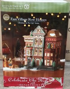 2007 NEW NIB DEPT. 56 CHRISTMAS IN THE CITY EAST VILLAGE ROW HOUSES 59266