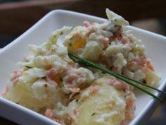 Recette Entrée : Salade de pommes de terre au saumon fumé et chou fleur par…