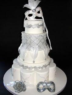 MASCARADE WEDDING THEME   wedding cake perfect for a mascarade theme   Wedding Ideas