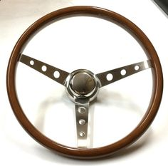 "15"" Deep Dish Wood Steering Wheel Steering Wheels, Deep Dish, Lifted Trucks, Cars Motorcycles, Classic Cars, Dishes, Cool Stuff, Wood, Vehicles"