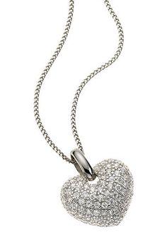 Kette mit Anhänger von firetti Bling, Pendant Necklace, My Style, Heart, Silver, Jewelry, Jewel, Jewlery, Jewerly
