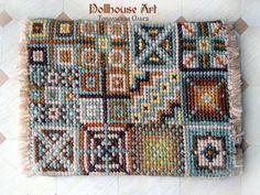 Miniature hand embroidere carpet Miniature от OlgaDollhouseArt