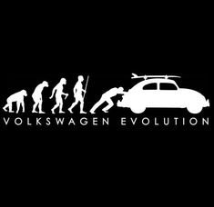 New percent cotton Volkswagen BUG 'Evolution' t-shirt. Sizes Small through White ink on Black, Navy or Grey shirt. Design is printed on the front of the shirt only. Bus version is also available. Vw Bus, German Look, Evolution, Beetle Drawing, Vw Baja Bug, Volkswagen Golf Mk1, Vw Vintage, Mini Cooper, Vw Beetles