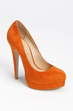 Orange suede pumps I would rule over the wedding! @Tamera Geddes Jones @Allison j.d.m Hukill @Shannon Bellanca Snow
