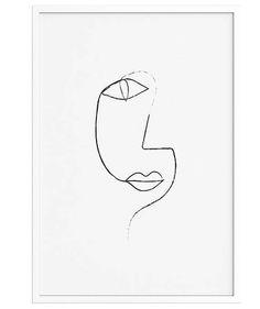 Lijntekening 1 ART PRINT Minimalistische enkellijns Poster