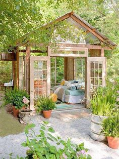 Cute and cozy outdoor reading room. Love it!