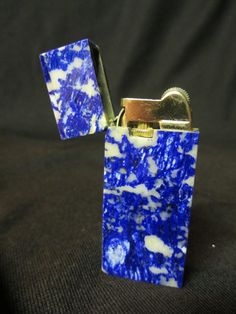 Vintage Cigarette Lighter Mottled Blue & by TimesGoneByAntiques, $19.00