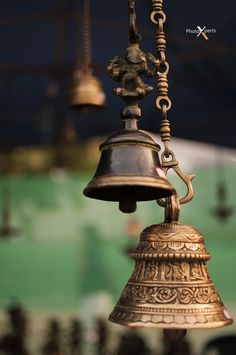 Over a century old Bronze Bells in an Indian Temple. Temple India, Hindu Temple, Padmanabhaswamy Temple, Temple Room, Khajuraho Temple, Juno Temple, Buddha Temple, Golden Temple, Temple Wedding