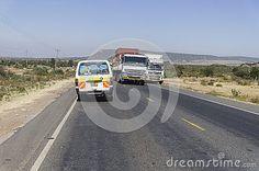 The main transit road in Kenya. Africa.