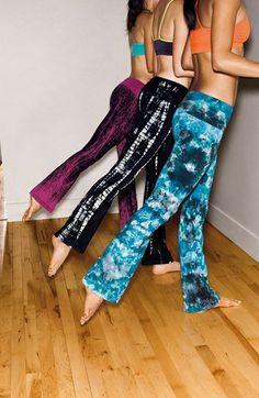 Hard Tail Roll Waist Flare Leg Pants | Nordstrom
