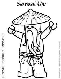 all ninjago coloring pages | Ninjago Sensei Wu Coloring Page