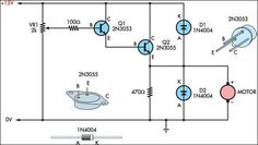 Two basic motor speed controllers circuit project