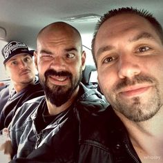 """Ghost Adventures: """"Stuck in a small car with these two haa, Zak Bagans and Aaron Goodwin"""" - Nick Groff"""