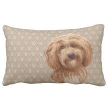 Labradoodle Love™: products on Zazzle Labradoodle Dog, Australian Labradoodle, Lumbar Pillow, Throw Pillows, Brown, Dogs, Red, Design, Decor