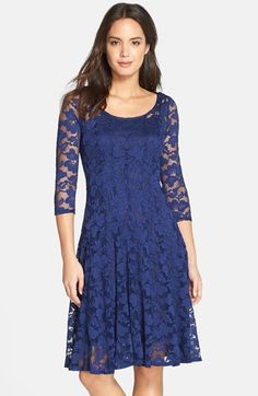 $98.00 Chetta+B+Floral+Lace+Fit+&+Flare+Dress+available+at+#Nordstrom
