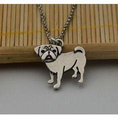 Vintage Pug Lover Necklace