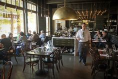 Chairs and Booths by Pollin's Interiors in Napa at Redd Wood Restaurant, Yountville