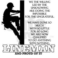 Cool lineman poem