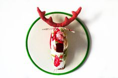Deer Head Wall Decor by Happielephant on Etsy