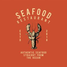 ideas for seafood restaurante design graphics Restaurant Logo Design, Food Logo Design, Design Typography, Seafood Restaurant, Logo Food, Seaside Restaurant, Fashion Typography, Seafood Boil, Badge Design