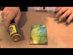Scrap Time - Wendy Vecchi demos her Embossing Pastes