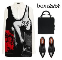 """BOX CLUTCH"" by maria-maldonado ❤ liked on Polyvore featuring Acne Studios, Joseph, Miu Miu, women's clothing, women's fashion, women, female, woman, misses and juniors"