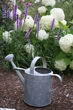 I love large old metal watering cans ...this one looks new, but could be 'aged' for a more vintage look!