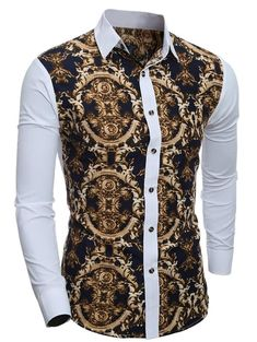 Shirts Type: Casual Shirts Material: Cotton,Polyester Sleeve Length: Full Collar: Turn-down Collar Weight: 0.199 kg Package Contents: 1 x Shirt Slim Fit Dress Shirts, Slim Fit Dresses, Fitted Dress Shirts, Dress Tops, Shirts & Tops, Casual Shirts, Men Shirts, Camisa Tribal, Chemise Fashion