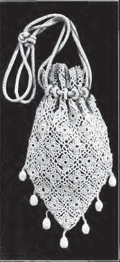 Vintage Crochet Squares Handbag: free pattern