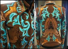 Silver Lining Custom Western Show Apparel. Our designs are unique, stunning, one of a kind pieces just like the riders who wear them. Western Jackets, Western Show Shirts, Western Show Clothes, Horse Show Clothes, Equestrian Outfits, Equestrian Style, Western Outfits, Western Wear, Cowgirl Bling