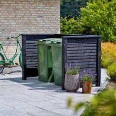Plank skraldespandsskjul - renovationsskjul Outdoor Spaces, Outdoor Decor, Plank, Outdoor Gardens, Garage Doors, Fences, Inspiration, Home Decor, Products