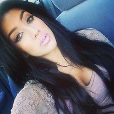 Long Black Hair - Makeup