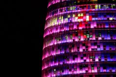 Paint it Pink - Torre Agbar by Pankcho; Barcelona, Spain