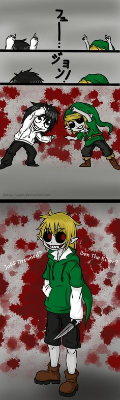 Fusion Jeff the killer and Ben drowned Jeff The Killer, Creepypasta Proxy, Creepypasta Characters, Scary Creepypasta, Fnaf, Creepy Pasta Family, Eyeless Jack, Pokemon, Ben Drowned