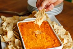 Buffalo Chicken Dip -- this buffalo chicken dip is a deliciously close copy of our favorite appetizer served at a local bar and grill, perfect for tailgating!