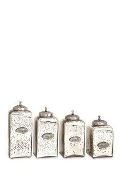 Mercury Glass Jars with Lids