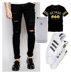"""black"" by cosmina-styles-alina on Polyvore featuring Cheap Monday, Native Union, Bioworld, adidas, men's fashion and menswear"