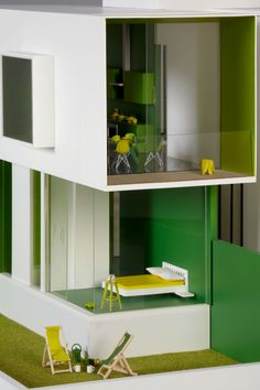A Dolls' House Project: Contemporary Architecture To Play With  / (detail) AHMM / ALLFORD HALL MONAGHAN MORRIS. RIBA Award winning architects. http://www.yatzer.com/adollshouse