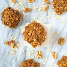 healthy, protein-packed pumpkin oatmeal breakfast cookies - ideal for busy mornings on-the-go!